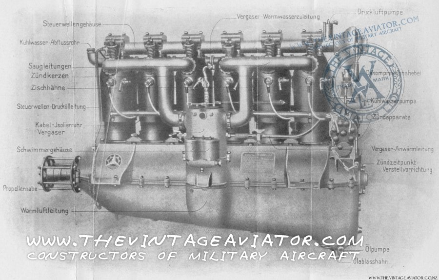 Mercedes DIII Engine Diagram | The Vintage AviatorThe Vintage Aviator