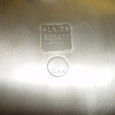Reproduction Factory Tags On Fuel Tank