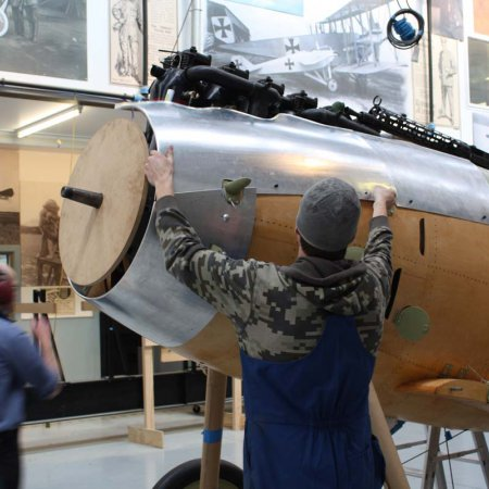 Cowlings Being Fitted To Plane