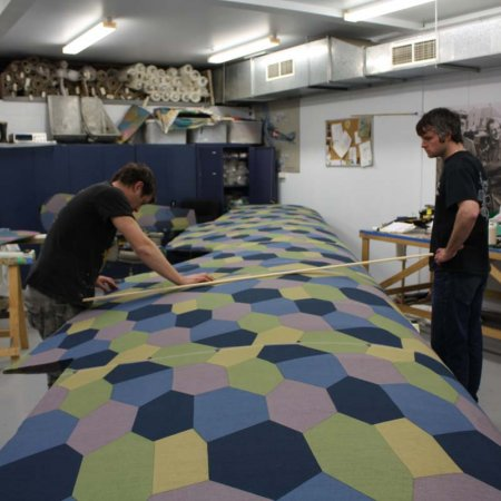 Ben And Olly Mark Oout Rib Lines On Upper Wing Fabric