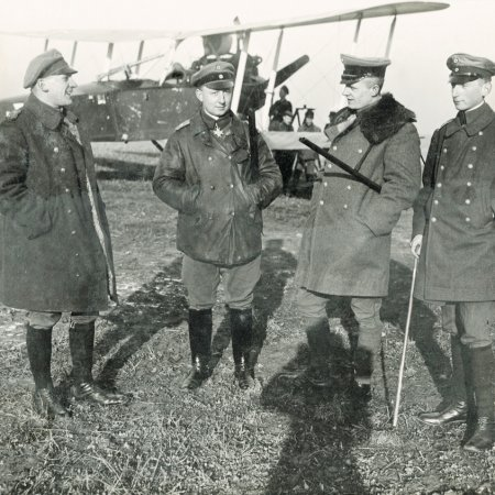 050 German Officers With Rumpler
