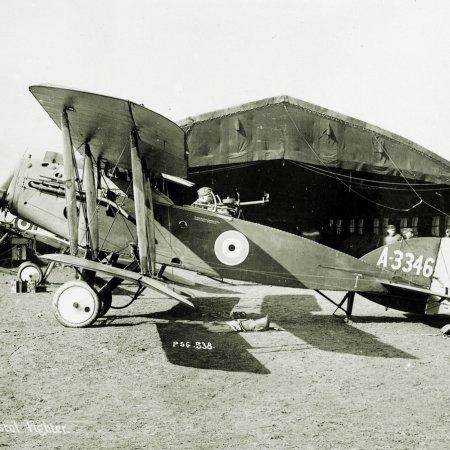 099 Bristol Fighter A 3346 Outside Hangar