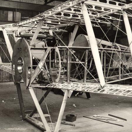193 Sopwith Snipe Frame During Assembly