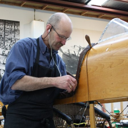 Mikes Works On Cockpit Coaming 1