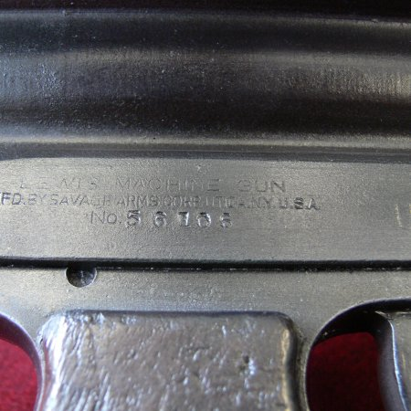 Lewis Gun US Savage Sl 4 Engraving Detail