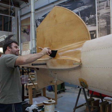Paul Shellacking Tail Plane