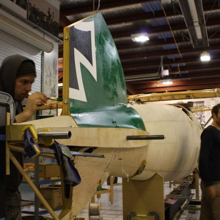 Olly Painting Tail Plane