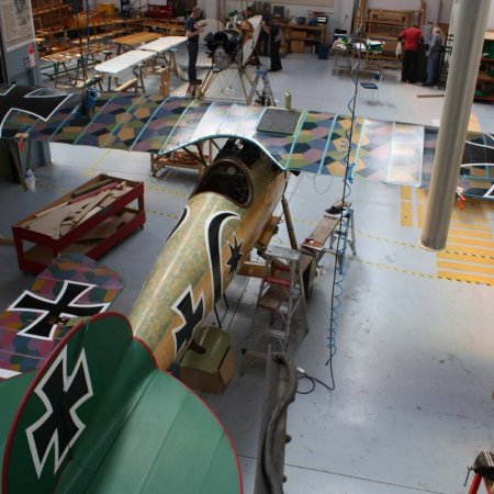 Final Test Fit Of Entire Aircraft Completely Covered And Painted In The Colors Of Josef Mai