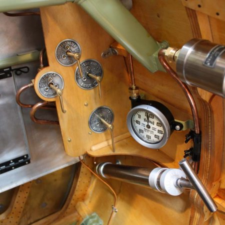 Cockpit Detail Air And Fuel Valves With German Placards In Place