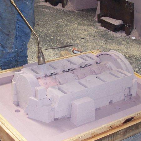 RAF 1 A Assembled Hardsand Cores For Upper Crankcase